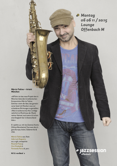 plakat/poster jazzsession offenbach