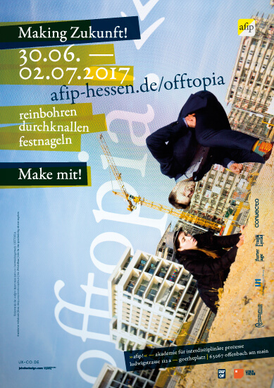 plakat/poster offtopia — 2192 tage »afip!«