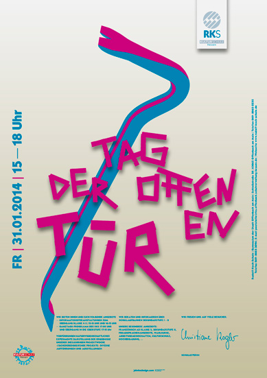 Tag der offenen tür plakat design  plakat poster anschlag jahnkedesign design büro offenbach ...