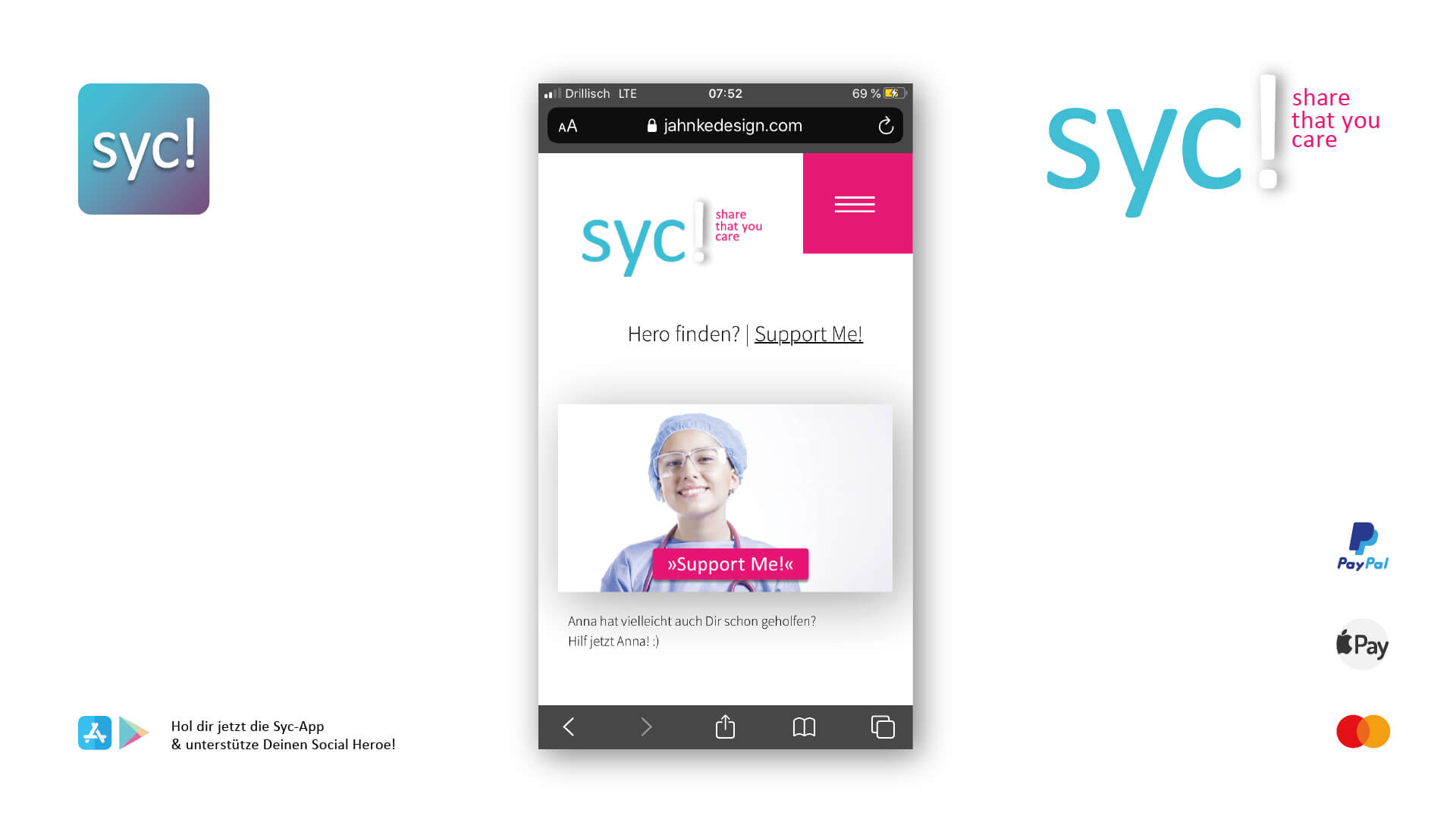 syc app ansicht entwurf #corona jahnkedesign
